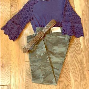 ⚡️NWT⚡️LOFT Green Camo Pants